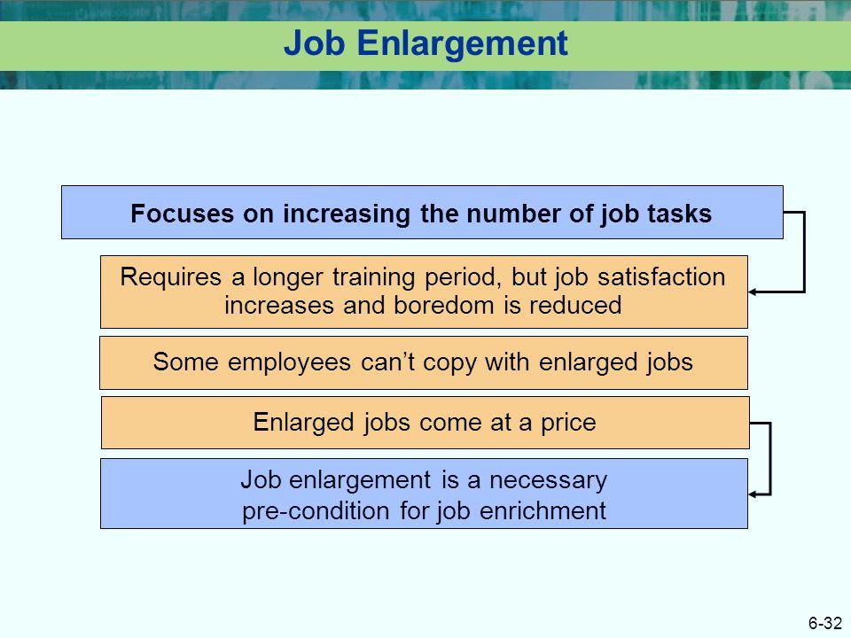 Focuses on increasing the number of job tasks
