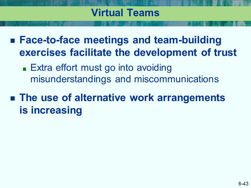 The use of alternative work arrangements is increasing