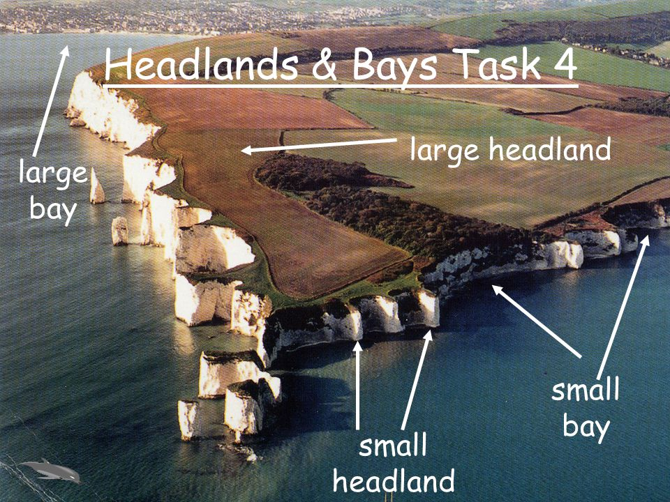 Headlands & Bays Task 4 large headland large bay small bay
