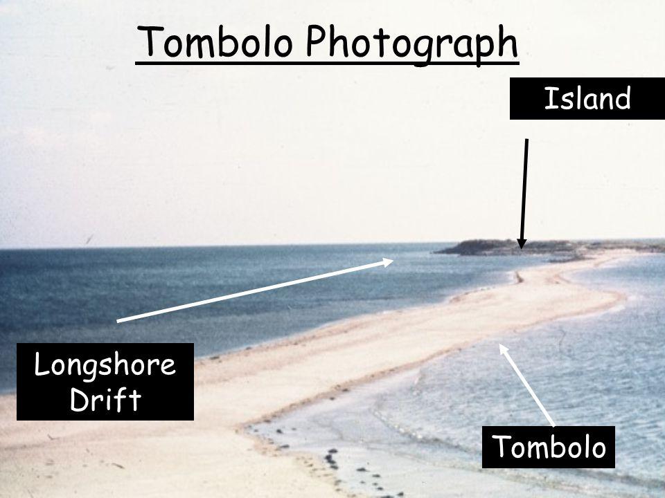 Tombolo Photograph Island Longshore Drift Tombolo