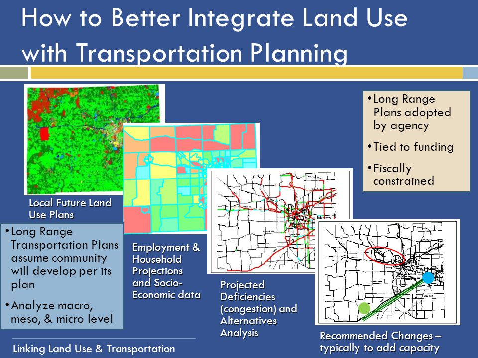How to Better Integrate Land Use with Transportation Planning