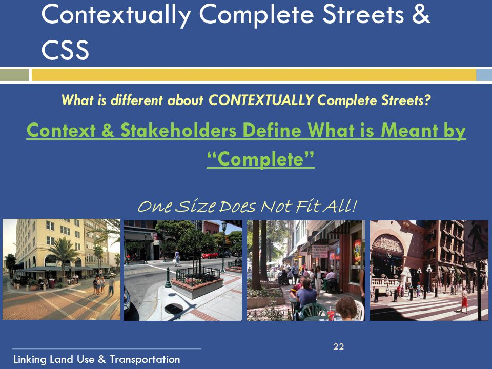 Contextually Complete Streets & CSS