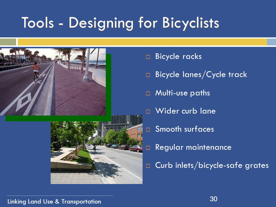 Tools - Designing for Bicyclists