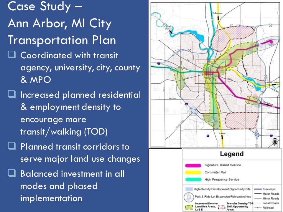 Case Study – Ann Arbor, MI City Transportation Plan