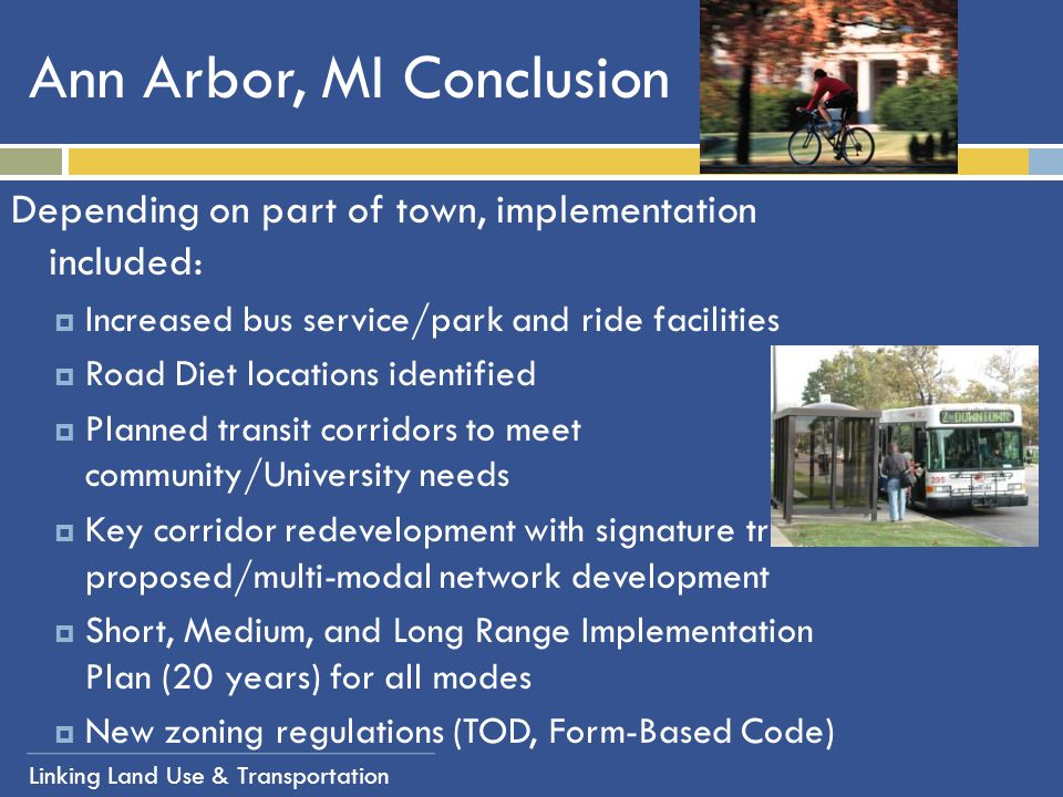 Ann Arbor, MI Conclusion