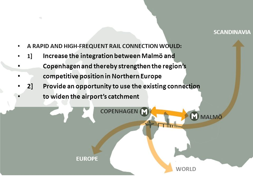 SUPPOSITION: Copenhagen and thereby strengthen the region's