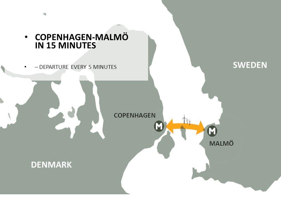 COPENHAGEN-MALMÖ IN 15 MINUTES COPENHAGEN-MALMÖ IN 15 MINUTES