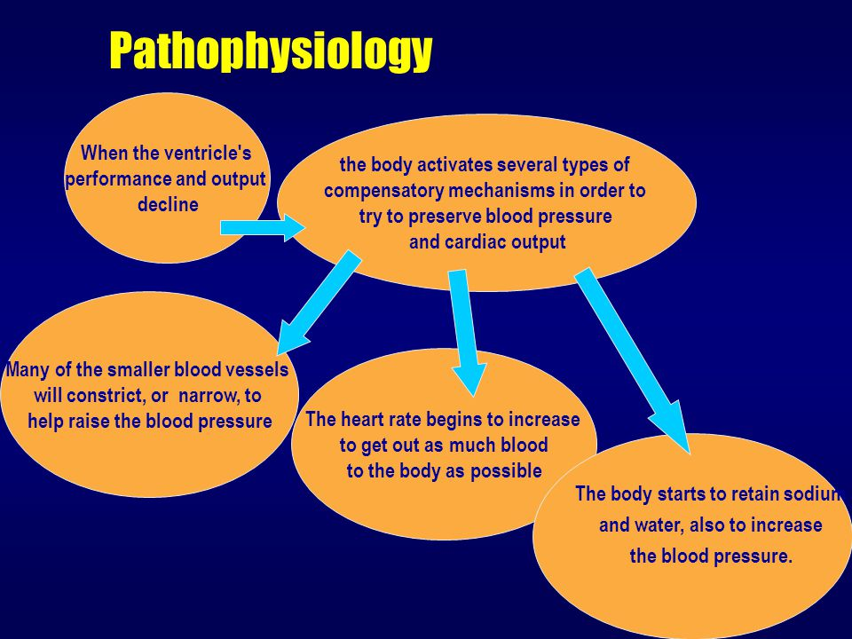 Pathophysiology When the ventricle s performance and output
