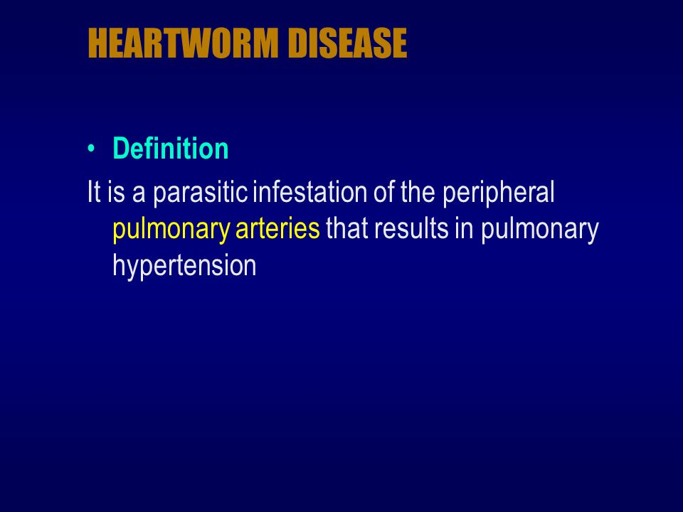 HEARTWORM DISEASE Definition