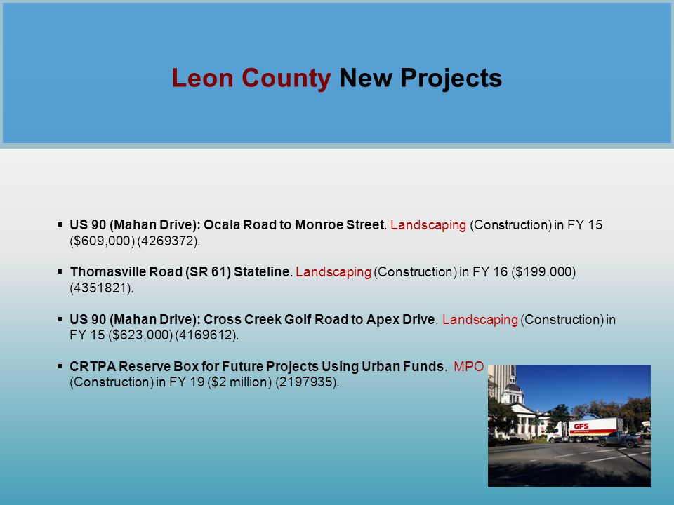 Leon County New Projects