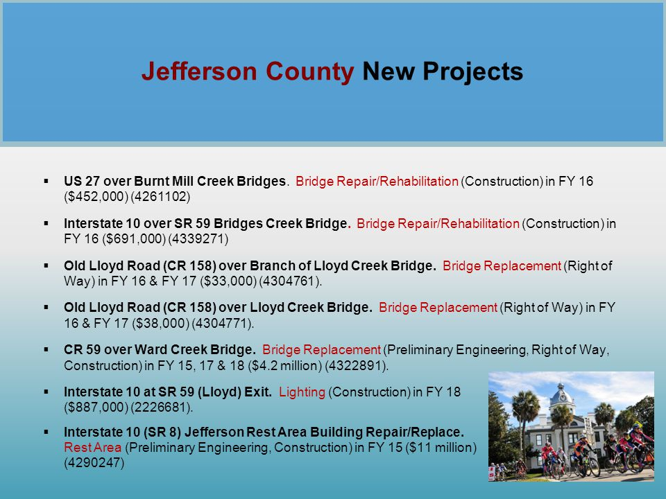 Jefferson County New Projects