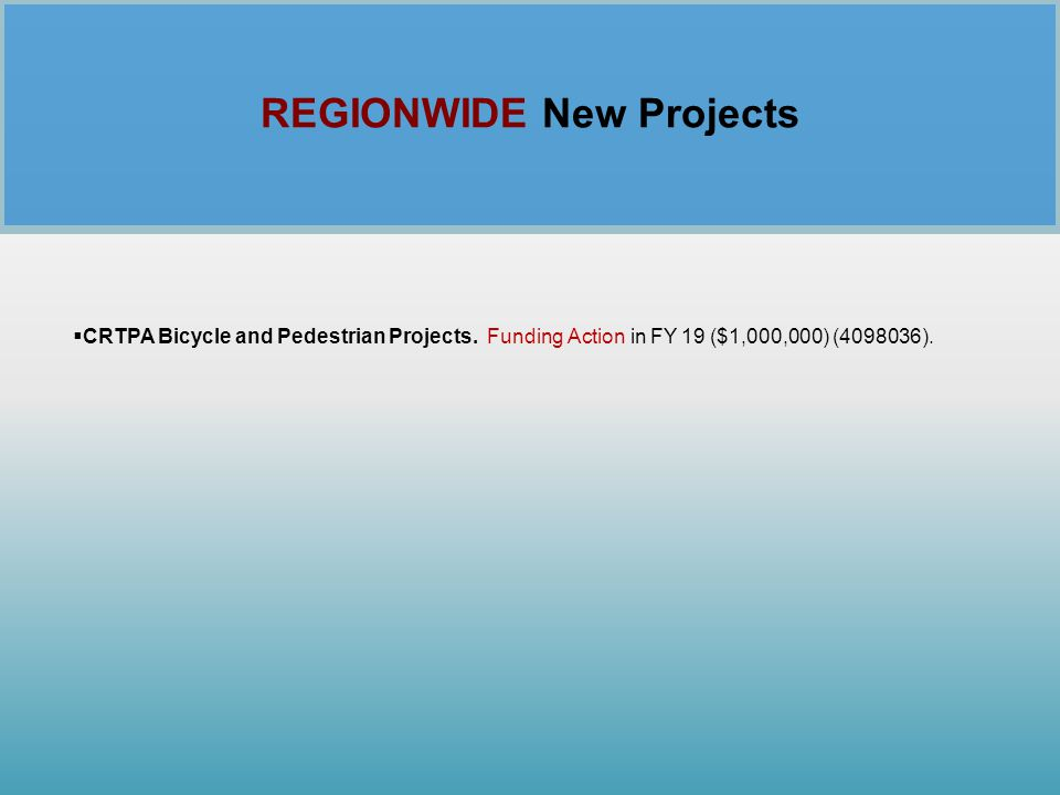 REGIONWIDE New Projects