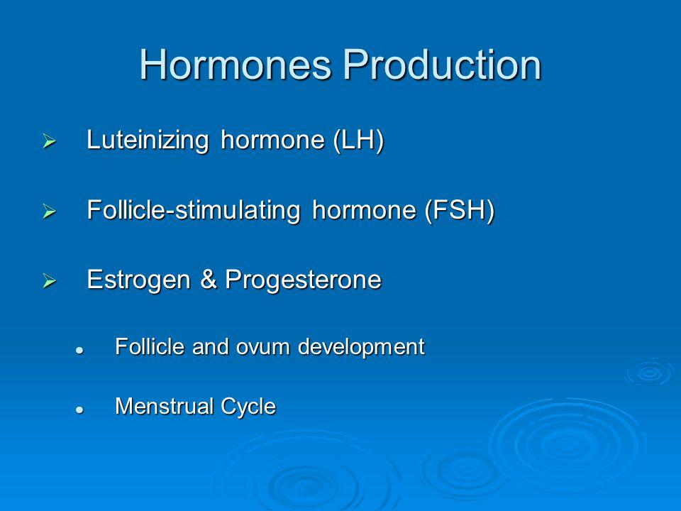 Hormones Production Luteinizing hormone (LH)