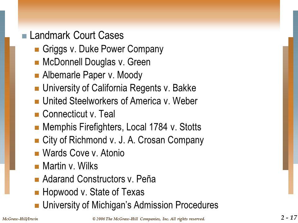Landmark Court Cases Griggs v. Duke Power Company
