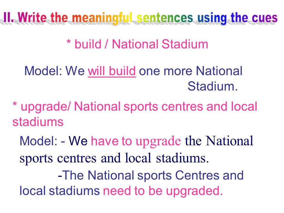 * build / National Stadium