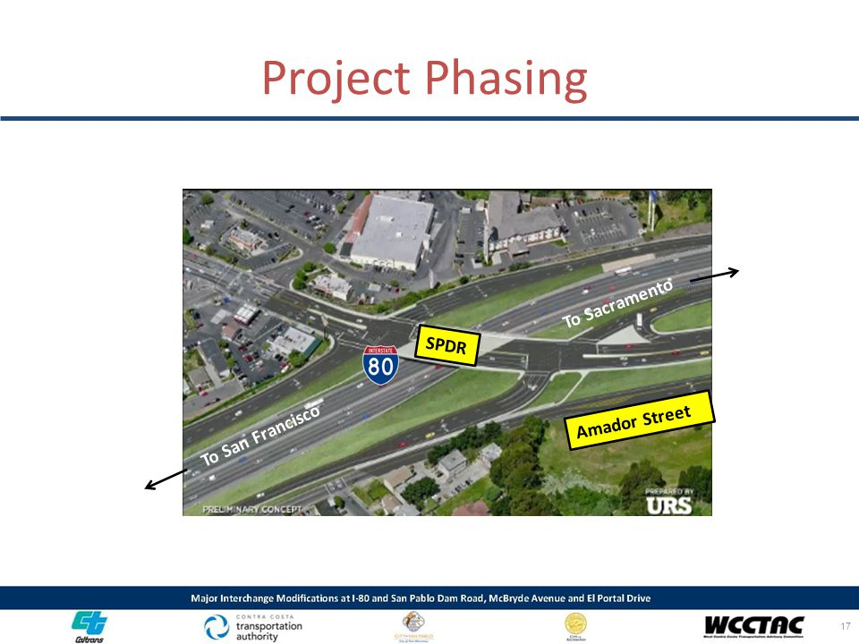 Project Phasing To Sacramento SPDR Amador Street To San Francisco