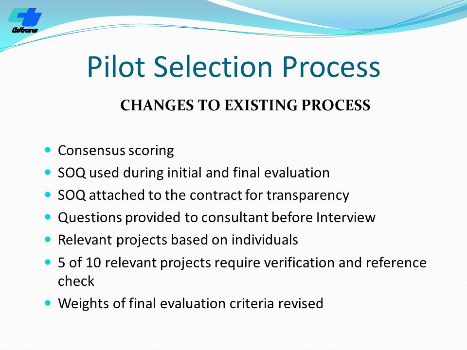 Pilot Selection Process