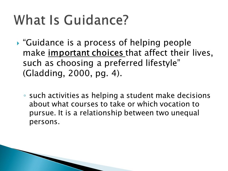 What Is Guidance