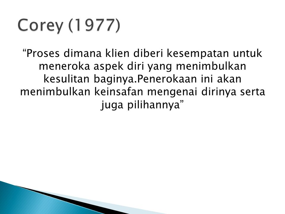 Corey (1977)