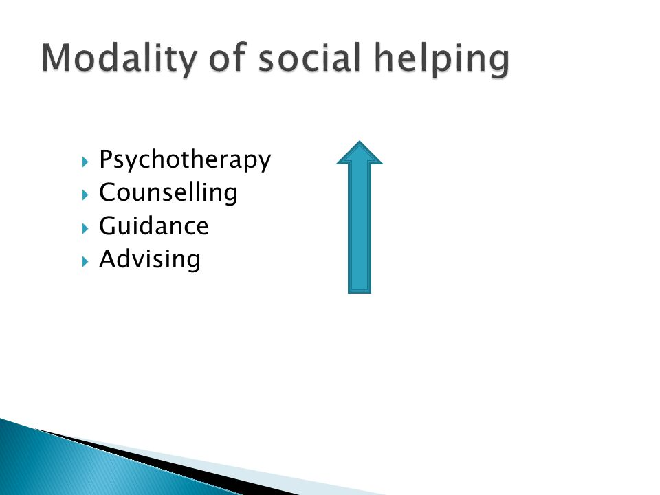 Modality of social helping