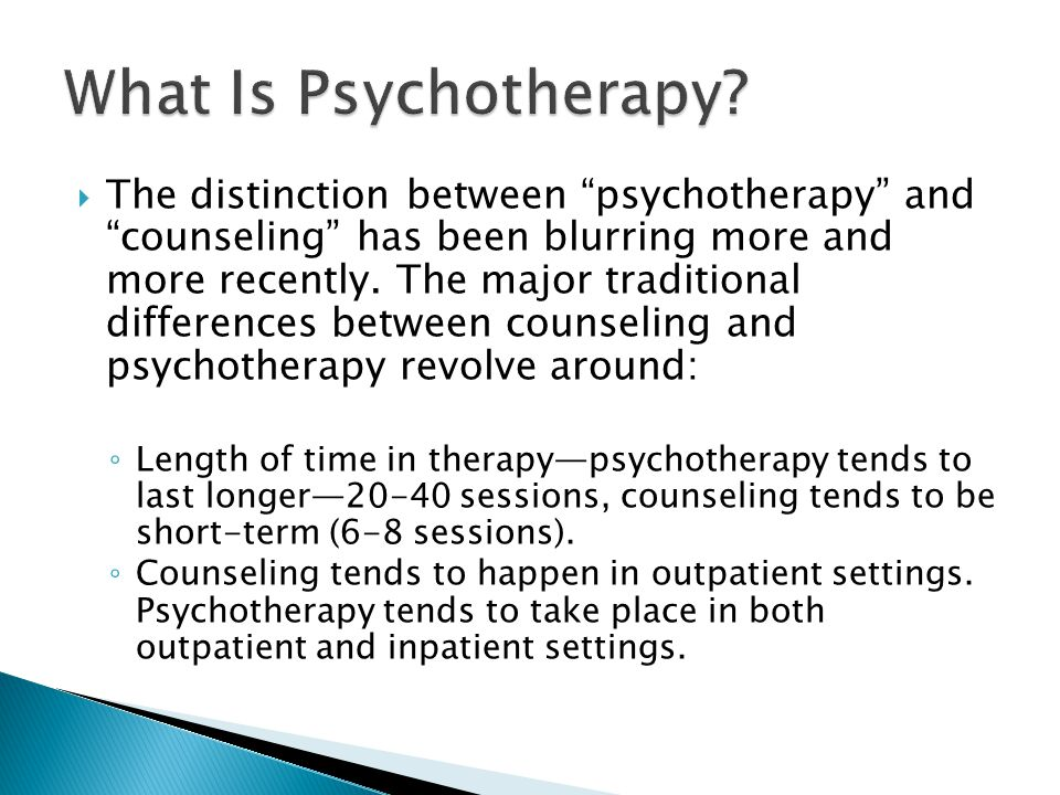 What Is Psychotherapy
