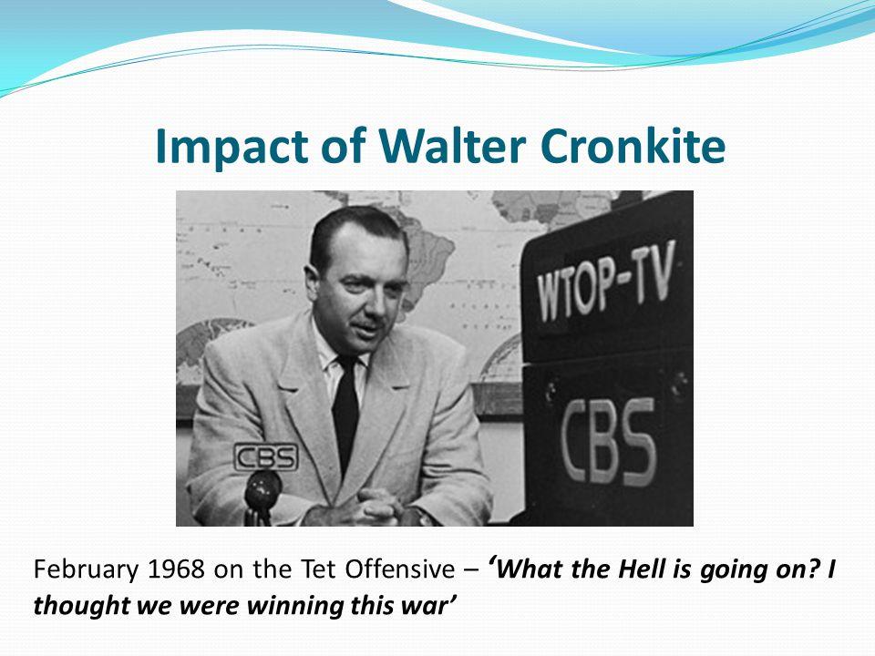 Impact of Walter Cronkite