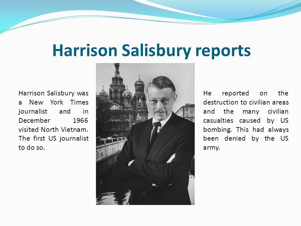 Harrison Salisbury reports