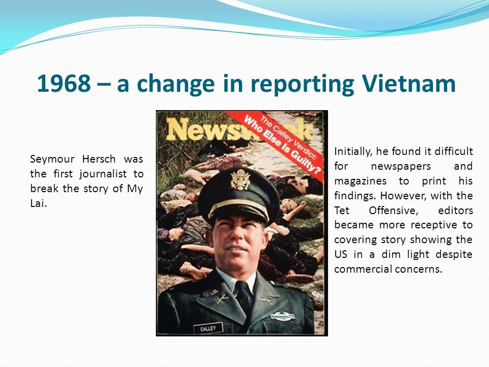 1968 – a change in reporting Vietnam