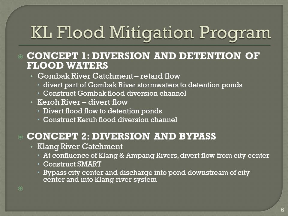KL Flood Mitigation Program