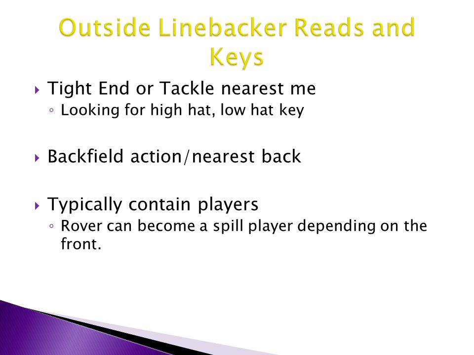 Outside Linebacker Reads and Keys