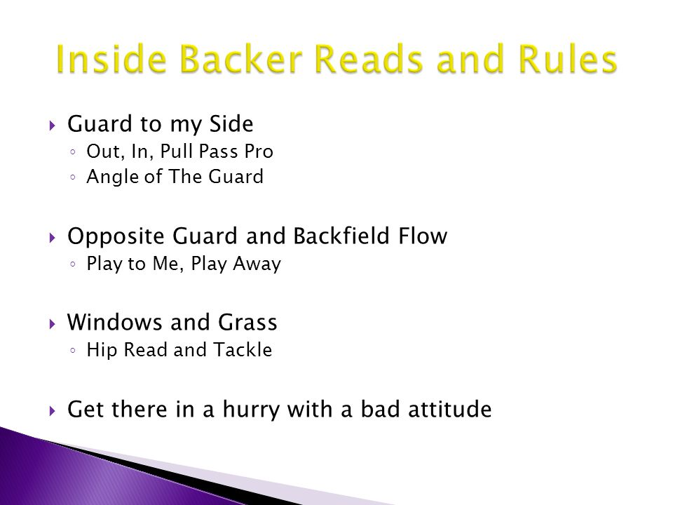 Inside Backer Reads and Rules
