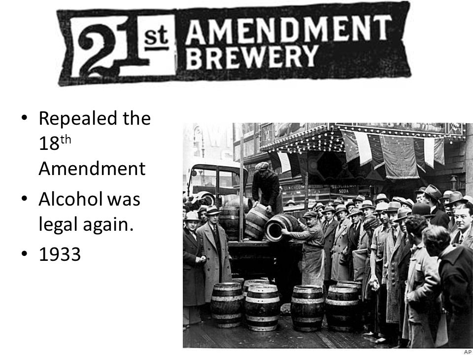 Repealed the 18th Amendment