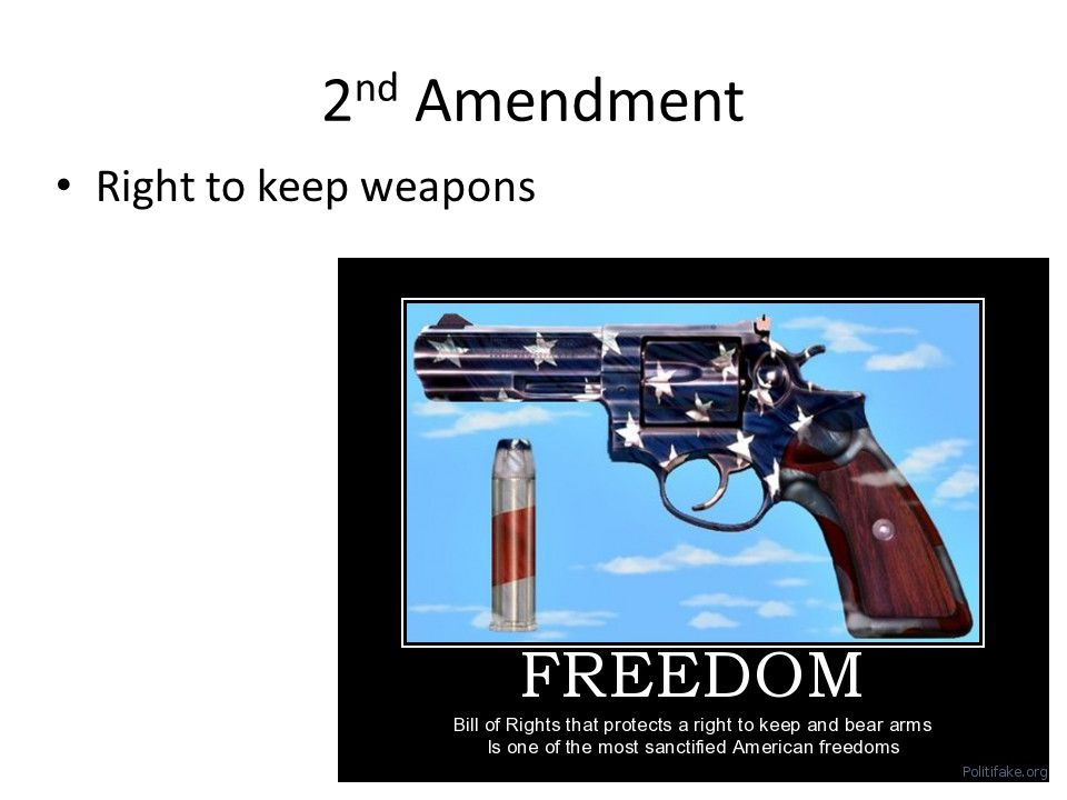 2nd Amendment Right to keep weapons
