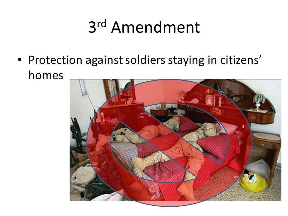3rd Amendment Protection against soldiers staying in citizens' homes