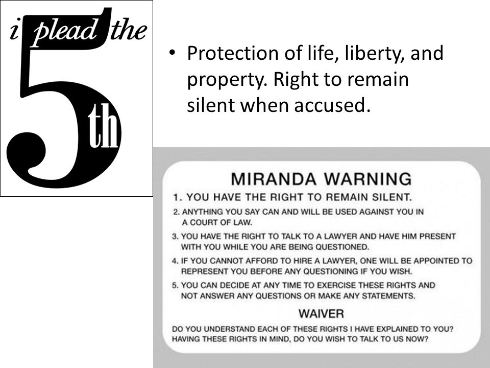 Protection of life, liberty, and property