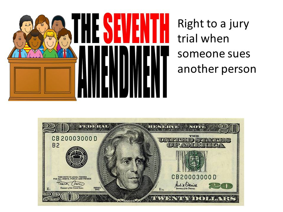 Right to a jury trial when someone sues another person