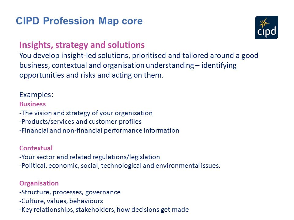 CIPD Profession Map core