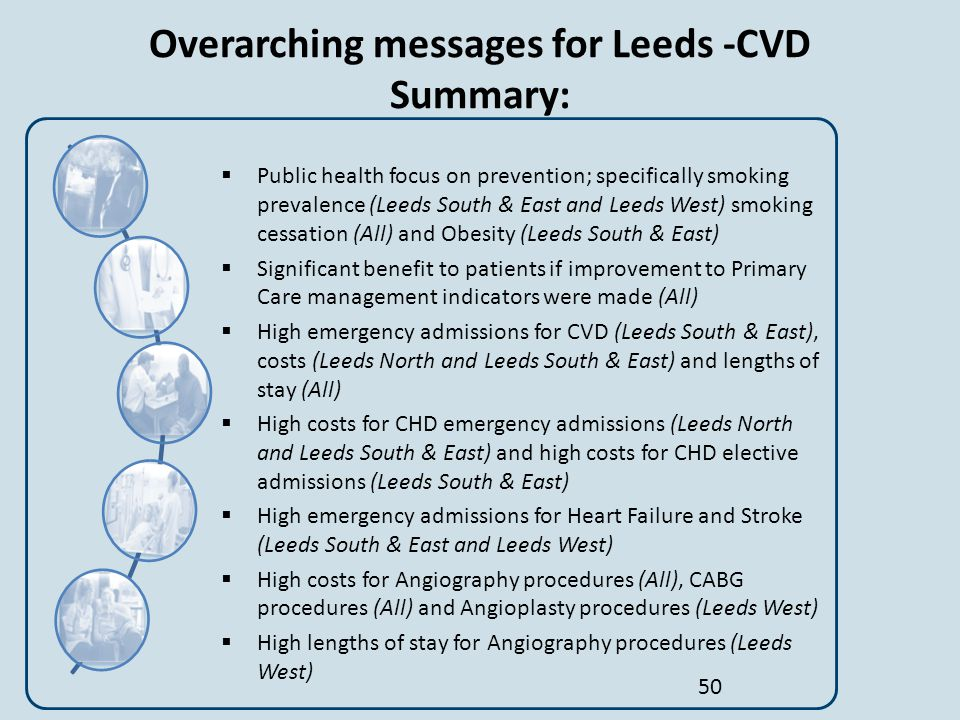 Overarching messages for Leeds -CVD Summary: