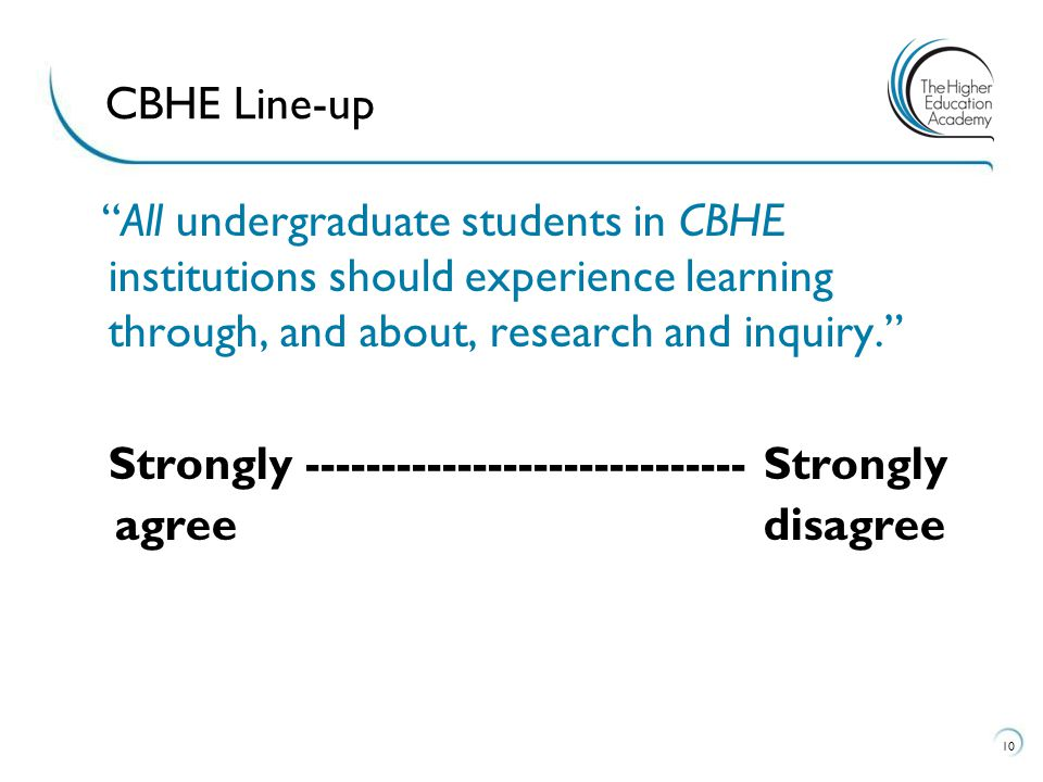CBHE Line-up