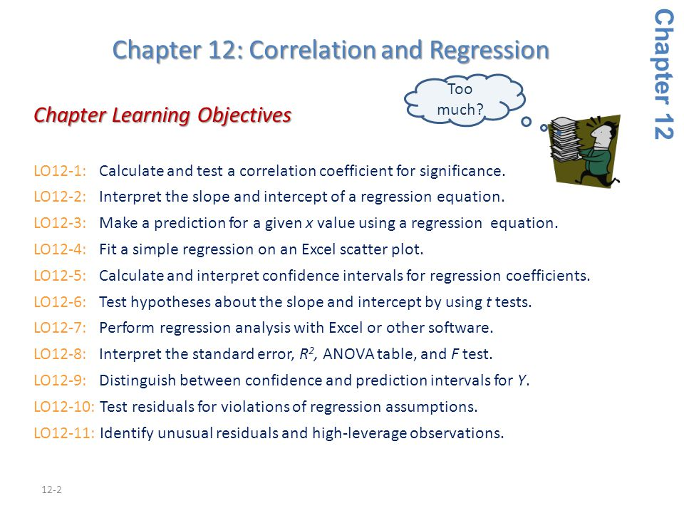 Chapter 12: Correlation and Regression