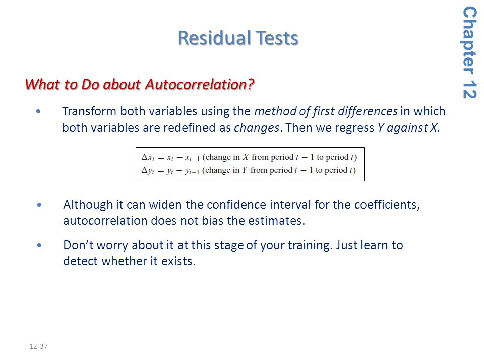 What to Do about Autocorrelation