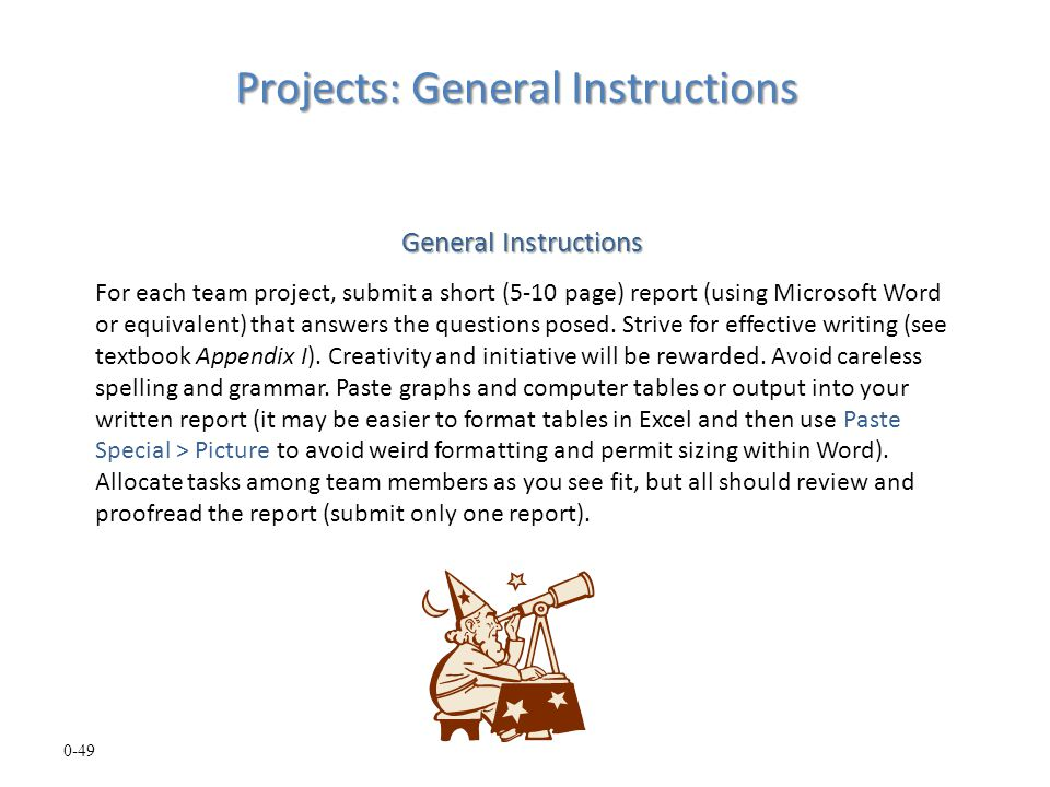 Projects: General Instructions
