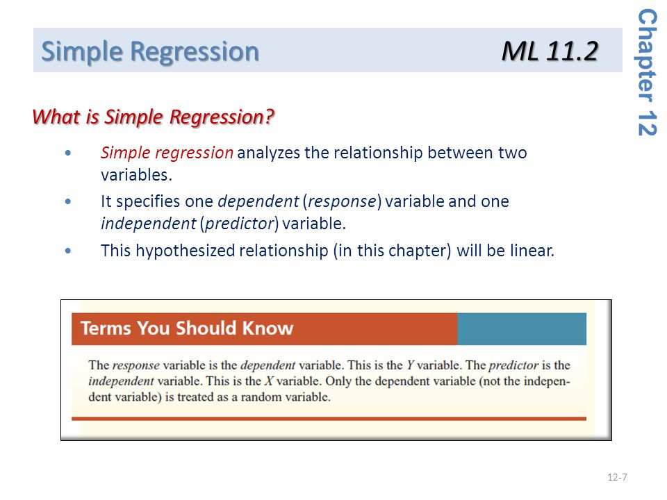 What is Simple Regression
