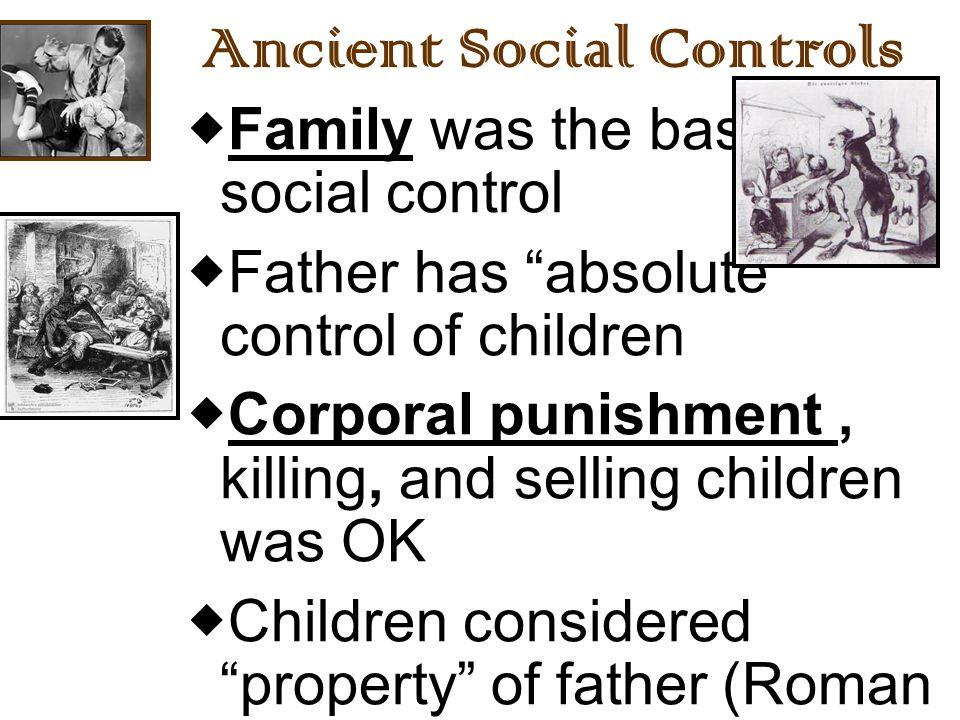 Ancient Social Controls