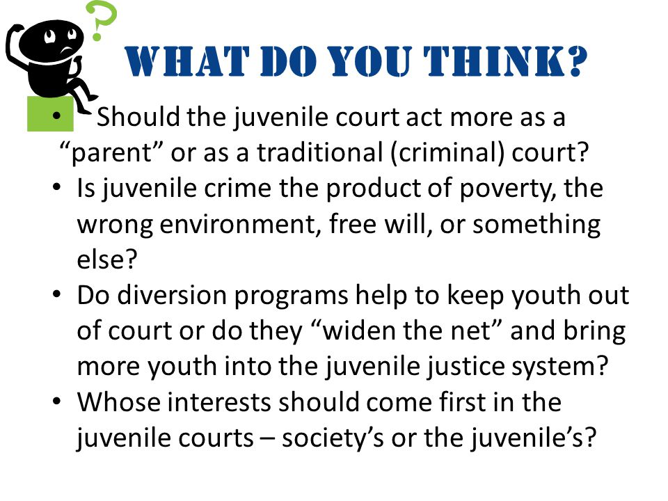 What do YOU think Should the juvenile court act more as a