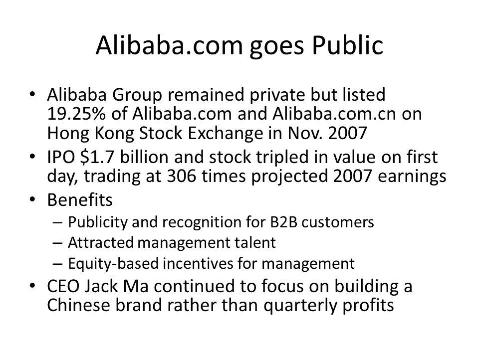 Alibaba.com goes Public