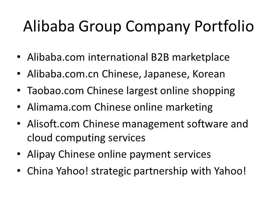 Alibaba Group Company Portfolio