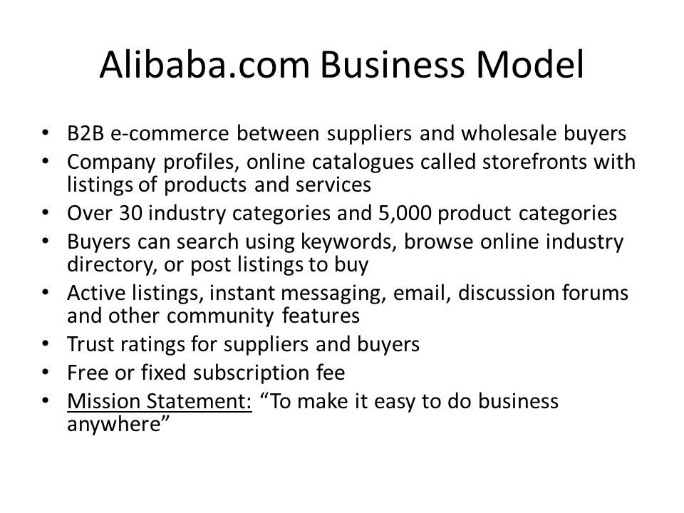 Alibaba.com Business Model