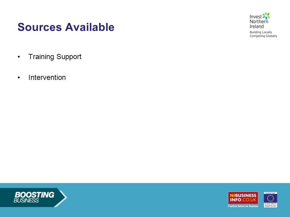 Sources Available Training Support Intervention