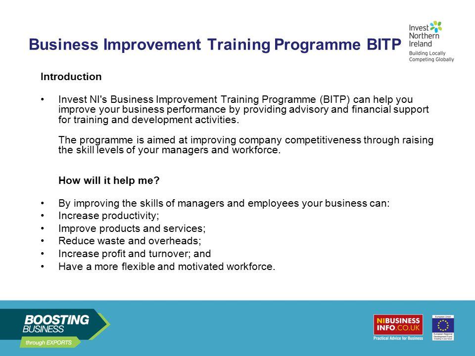 Business Improvement Training Programme BITP